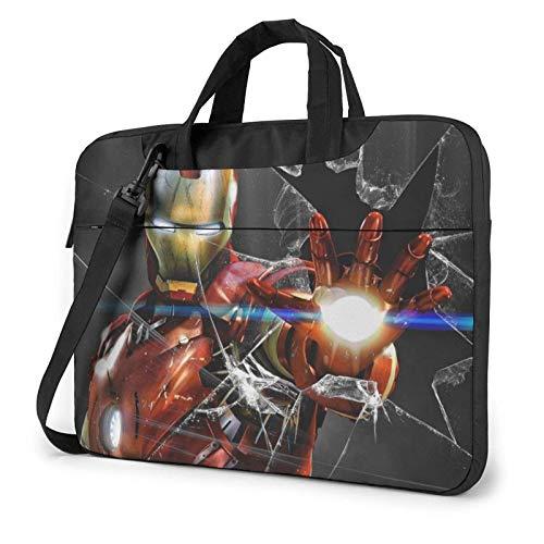 Laptop Shoulder Messenger Bag Briefcase Ir-On Man Laptop Bag Shockproof Foam Computer Protective Bag 15.6 inch