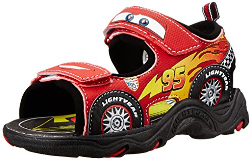 Cars Boy's Lightning McQueen Deluxe Light Up Sport Sandals (Toddler/Little Kid)
