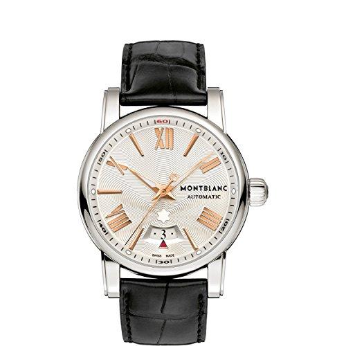 Montblanc Herren Uhr Analog Automatik mit Leder Armband 105858