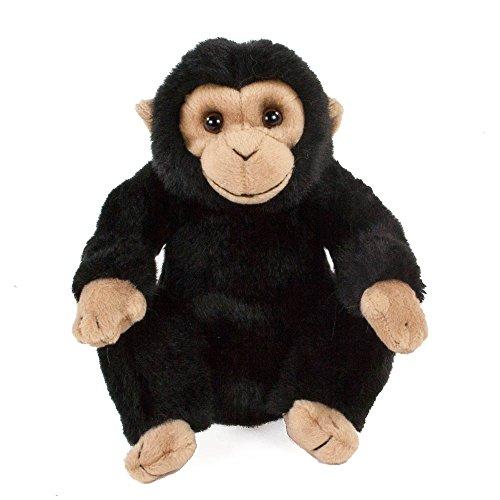 Teddys Rothenburg Kuscheltier Schimpanse sitzend schwarz/beige 18 cm Plüschaffe Plüschtier Stofftier Spielzeug Plüsch Monkey Chimp