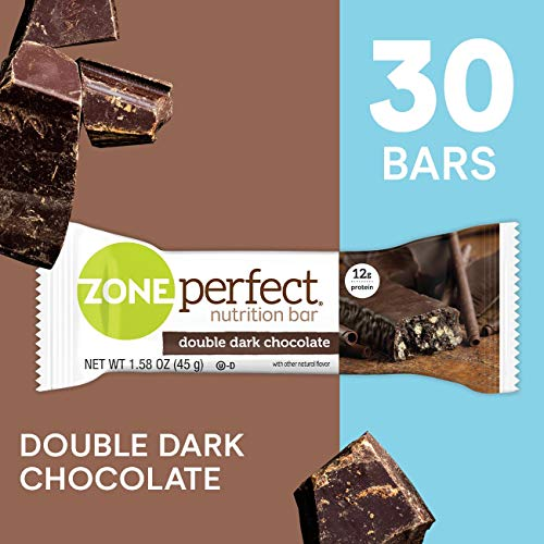 ZonePerfect Protein Bars, Double Dark Chocolate, High Protein, With Vitamins & Minerals (30 Count)
