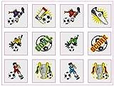 Fußball Thema Tattoos - 12er Pack