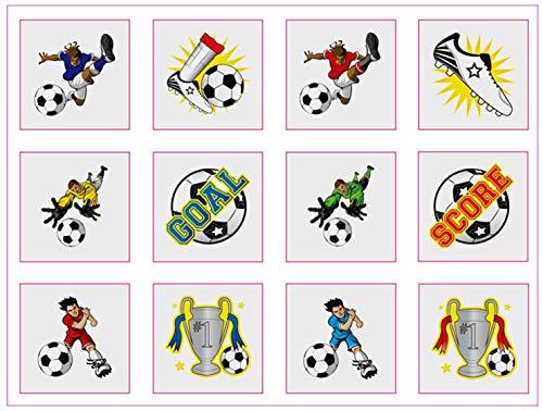 Henbrandt Lot de 12 tatouages sur le thème du football