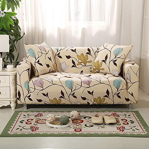 ASCV Protector de Muebles-Pieles de sofá Funda elástica para Sala de Estar Funda de sofá de Esquina Funda elástica para sofá A3 3 plazas