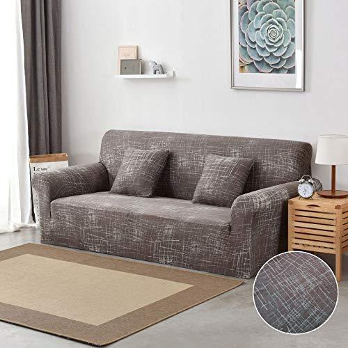 WXQY Funda de sofá Funda de sofá elástica Ajustada, sección Transversal elástica, Funda de sofá con Todo Incluido, decoración de la Sala de Estar, Funda de sofá A20, 4 plazas