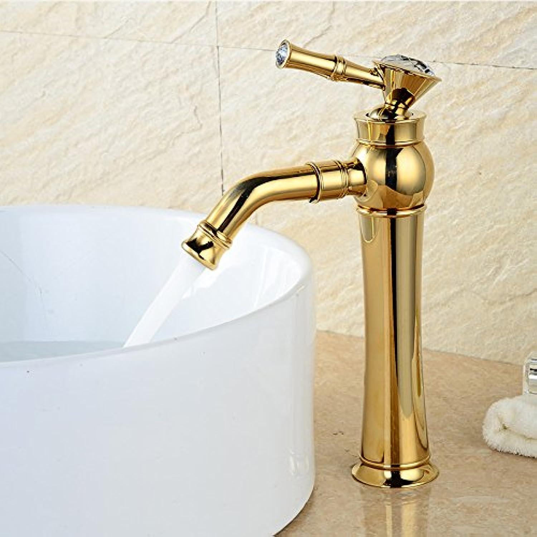 AOEIY Goldene Rotation Wasserhahn Küchen Mischbatterie Waschtischarmaturen Mixer Spültisch Armatur Bad Spülbecken Spültischbatterie badezimmer Küchenarmatur Edelstahl