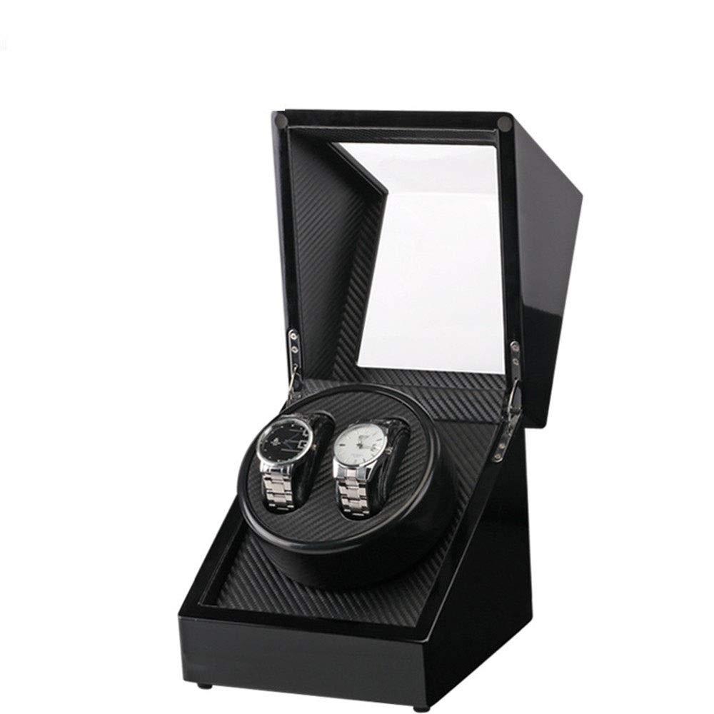 DRHYSFSA-Accessories Caja de Reloj Mira enrollador de Madera Cajas de Almacenamiento automático Doble for 2 Relojes Negro Mira La Caja De Almacenamiento como Regalo (Color : Black, Size : S): Amazon.es: Hogar