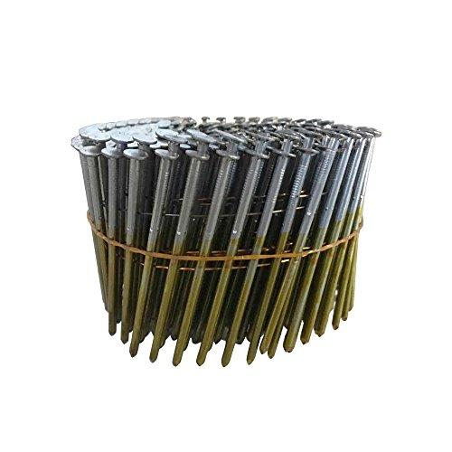 meite CNS3S - Clavos de cabeza redonda de 15 grados de 3 pulgadas x 0.120 pulgadas, bobina de alambre, vástago suave, bobina, 1350 unidades por paquete (1 paquete pequeño)