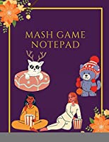 MASH Game Notepad: Large Size - Game With Boxes - 8.5x11, Nice Cover Glossy, 100 Templates