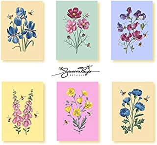 Sponsored Ad – Beautiful Floral Art Mixed 12 Pack by Susanna Taylor A6 Blank Inside Note Cards with White Envelopes