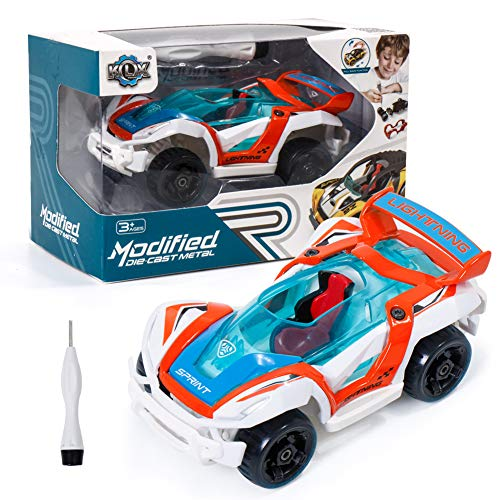 YIER Metal Toy Car for Kids, Take Apart Toys, Pull Back Vehicles Toy Car for Toddlers Kids Boys Girls Gift
