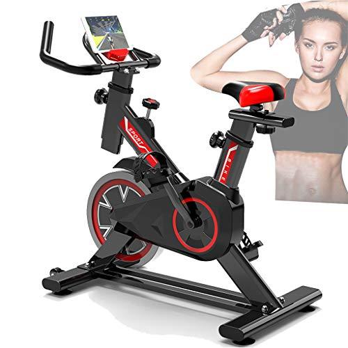 GJXJY FitnessBicicleta Indoor con Resistencia Regulable, Bici de Entrenamiento Fitness con Sillín Ajustable,pulsómetro y Pantalla LCD,Unisex