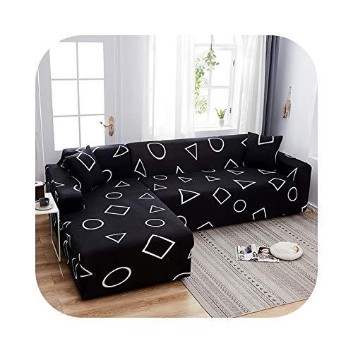 Friendshiy - Funda de sofá de esquina extensible, funda de sofá para salón elástica, toalla en forma de L, para tumbona, 2 piezas, color 19 – 4 – 300 cm, 1 unidad