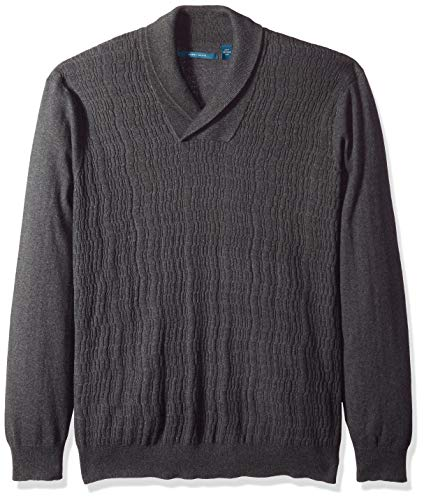 Bianco B Men Cotton Shawl Collar Sweater Modern Fit