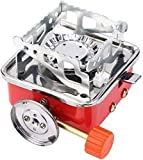 Store Portable Picnic, Camping Stainless Steel Gas Stove Ultra Light Folding Furnace Outdoor Metal...