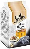 Sheba Délices du Jour Multipack Bolsitas de Comida húmeda para Gatos, Sabor Ave (6 bolsitas x 50g)
