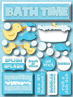 Reminisce RSD-125 Bath Time Signature Series Dimensional Cardstock Stickers