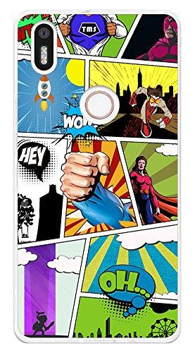 Tumundosmartphone Funda Gel TPU para BQ AQUARIS X5 Plus diseño Comic Dibujos