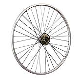 Taylor-Wheels 28 Pouces Roue arrière vélo YAK19 Roue Libre à Visser 7 Argent