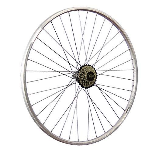 Taylor-Wheels 28 Zoll Hinterrad YAK19 / 7 Fach Shimano Schraubkranz - Silber