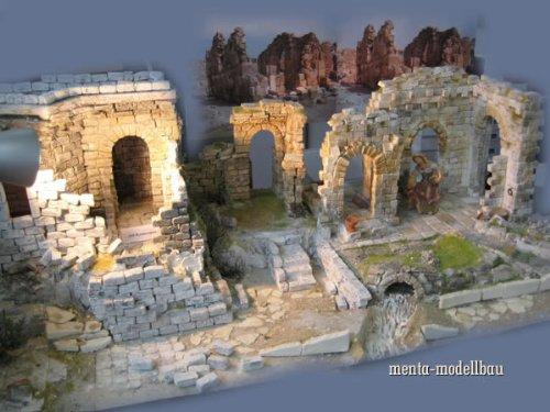 250 rechteckige Ruinen-Bausteine für Krippenbau und andere - 3