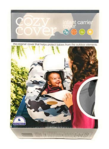 Cozy Covers Infant Car Seat CoverThe Industry Leading Infant Carrier Cover Trusted by Over 6 Million Moms Worldwide for Keeping Your Baby Cozy & Warm (Grey/White Camo)