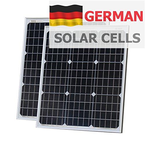 100W (50W + 50W) Photonic Universe paneles solares fabricado en alemán células solares con 2x 5m Cable para autocaravanas, caravan, barco o cualquier 12V/24V de sistema de batería
