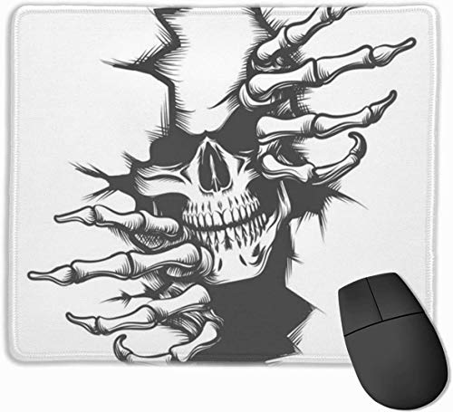 Alfombrilla de ratón Skull Break Free con base de goma antideslizante y alfombrilla de ratón impermeable con bordes cosidos Alfombrillas de ratón para ordenadores, portátiles, juegos, oficina y hogar