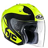 Casco de moto HJC FG-JET ACADIA MC4, Negro/Amarillo, L