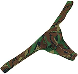 MuscleMate 2018 New, Men's Camouflage Thong Underwear, Hot Men's Camouflage Thong G-String Undie, No Visible Lines.