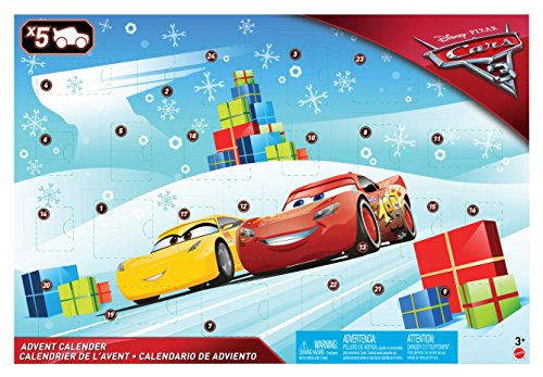 Cars 3- Calendario de Adviento (Mattel FGV14