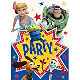 Unique Disney Toy Story 4 Party Invitations - 8 Pcs, multi-colored, one size