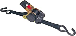 "Erickson 34415 Pro Series Black Retractable Ratcheting Tie-Down Strap (Pack of 2, 1"".."