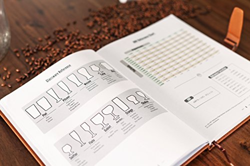 Product Image 5: Home brew Journal for Craft Beer Homebrewers   Homebrew Logbook w/ space for 70+ recipes   Beer Glassware Reference, Beer Color Chart, Hops and Yeast Strain Chart  