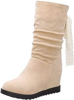 MisaKinsa Women Vintage Wedge Heels Booties Dress Boots Thick Bottom