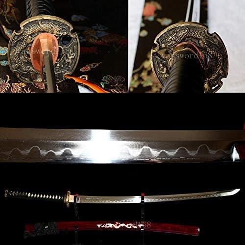 GLW Handmade Popularity Katana Real Shihozume Japanese Ka Structure Max 84% OFF Samurai