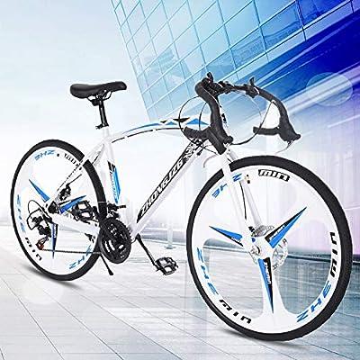 Tengma Road Bike 700c Racing Bike with 21 Speeds Shimanos Drivetrain,Aluminum Alloy Frame, Rider Bike Faster and Lighter Commuter Bicycle, Men/Women Road Bike