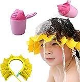 WPPYQ Duschhaube Kinder Badekappe Verstellbar, Haare waschen Kinder Schutz, Universal Cartoon Bade Tasse, Spülen Dusche Becher, Haare waschen Badekappen, Ohrenschutz für Vergnügtes Baden