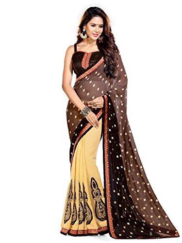 Bollywood indischer Frauen Sari mit Ungesteckt Oberteil/Top Mirchi Fashion Party indians saree kleidung