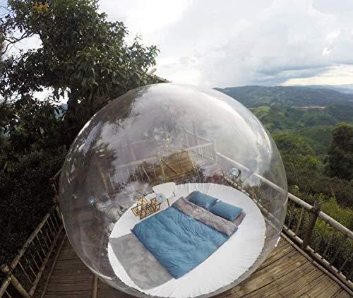 INFLATELINES Tienda de iglú de Burbujas inflables Domo Transparente de 360° con soplador de Aire Acampar al Aire Libre Exhibición de Productos Publicidad Evento Exposición