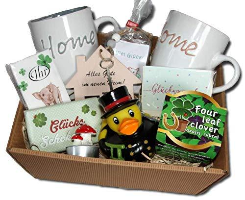 Umzug Präsentkorb | Einzug Geschenke Korb | Umzugsgeschenke | Home Sweet Home | Einweihungsparty Wohnung Haus Geschenke | Geschenkidee Umzug | Richtfest Geschenkkorb