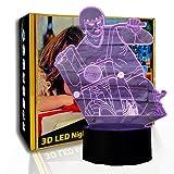 KangYD LED Night Light Riding Motor Men, lámpara visual 3D, luz decorativa, E - Base para despertador (7 colores), Regalo de Navidad, Regalo para niños, Lámpara infantil