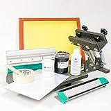 Kit de serigrafía – Prensa de serigrafía, rallador de impresión y educación, pantalla, tintas, emulsión, desengrapador, kit de insolación