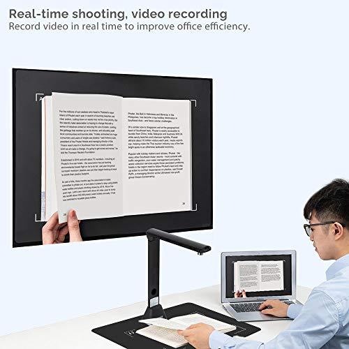 Auto-Flatten /& Deskew Tragbare 15-Megapixel-High-Definition-Dokumentenscanner USB Aufnahmegr/ö/ße A3 SDK und Twain f/ür B/üro- und Bildung Mehrsprachige OCR Bamboosang X7 Buch- und Dokumentenkamera