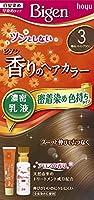 ホーユー ビゲン香りのヘアカラー乳液3 (明るいライトブラウン) 40g+60mL ×3個