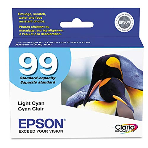 Epson 99 Light Cyan Ink Cartridge for the Epson Artisan 700 and Artisan 800 Printers - T099520