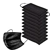 50pcs Disposable Face Másk With 3 Layer Filter With Elastic Earloop,black Gray Breathable Safety...