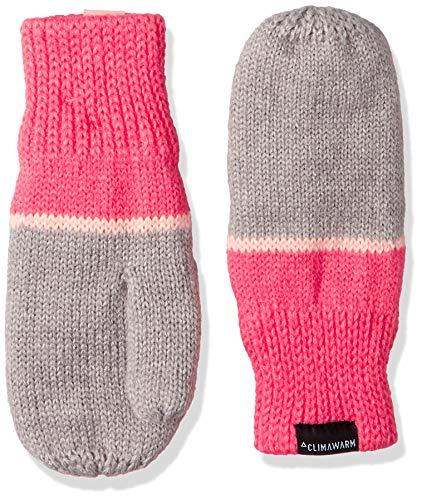 adidas Kinder Stripy-DJ2277 Handschuh, Medium Grey Heather/Super Pink/White, XS