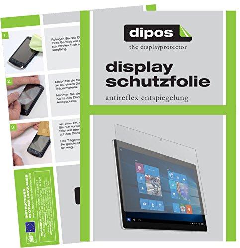 dipos I 2X Schutzfolie matt kompatibel mit Alcatel Plus 12 Folie Bildschirmschutzfolie