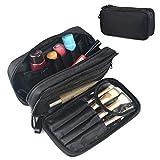 Kosmetiktasche für Damen Make Up Tasche Schminktasche Kosmetikbeutel Beautycase Reise-Kit Organizer Schwarz
